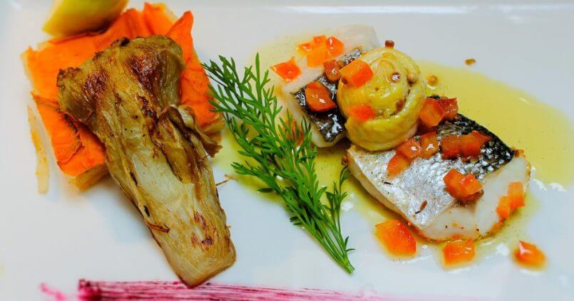 Recette du chef - Panaché de poisson rôti sauce vierge
